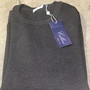 Cellini Italian wool Dark Brown Sweater 50